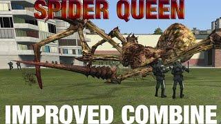 100 Metrocops (Improved Combine) vs Spider Queen in Garry's Mod