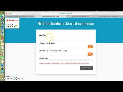 récupération mot de passe et identifiant ENT