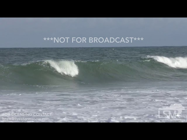 9-12-2018 Wrightsville Beach, NC - Surfer Wipes Out in Pre-Florence Waves