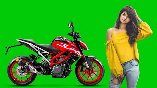 #KTM_Duke_Bike_Stunt Green Screen Vfx Effects !! #Bike_Stunt_With_girlVfxEffectsGreenScreen