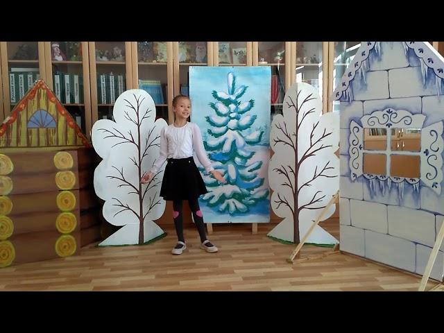 Изображение предпросмотра прочтения – СофияПавелко читает отрывок изпроизведения «Заюшкина избушка» (Русский фольклор )