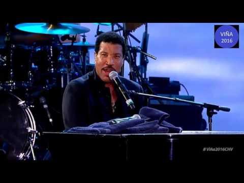 Lionel Richie en el festival de viña 2016 presentación completa ((HD))