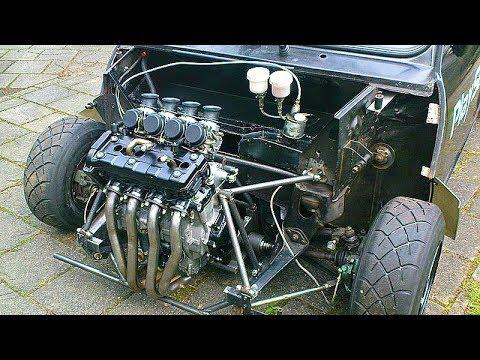 😲 Автомобили с Двигателями от Мотоцикла 👍!