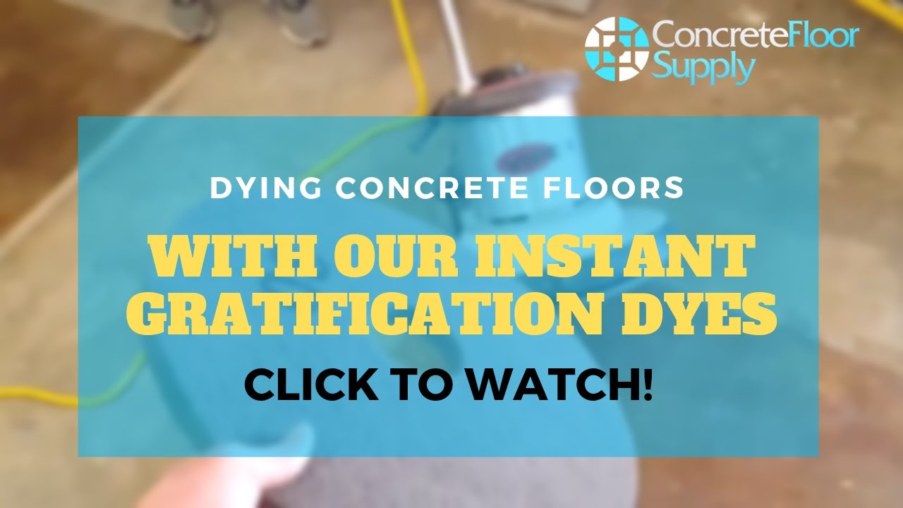 Dyed Concrete Flooring : Step video dying concrete floors with our instant