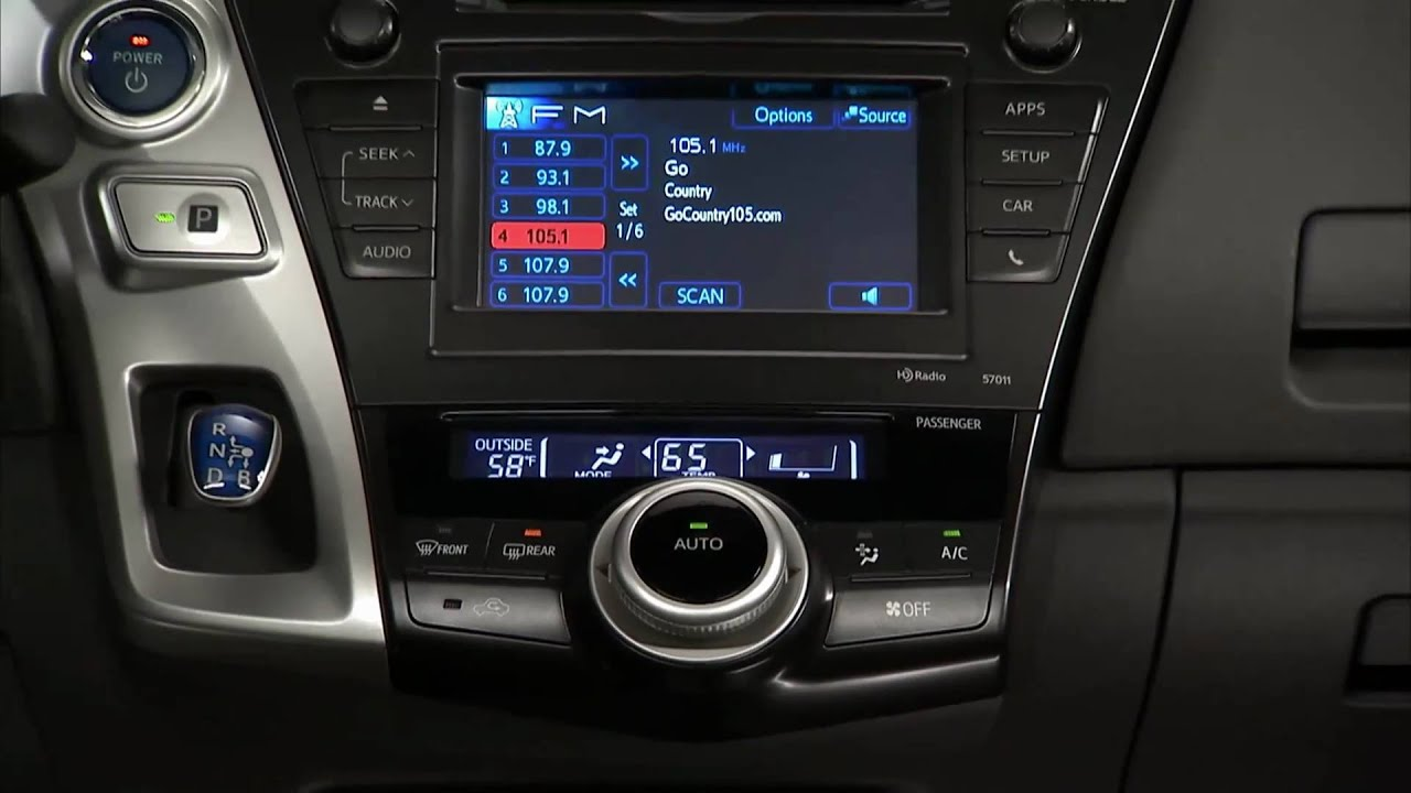 2012 Toyota Prius Interior Youtube