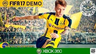 FIFA 17 - TESTANDO A DEMO NO XBOX 360 (Português-BR)