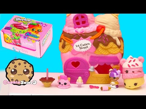 0557 Scoops House Ice Cream Shoppe Lalaloopsy Tinies Playset Season 4 Shopkins Blind Bag Unboxing