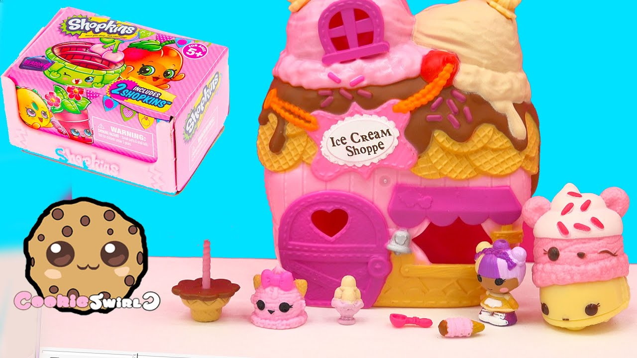 Scoops House Ice Cream Shoppe Lalaloopsy Tinies Playset + Season 4 Shopkins  Blind Bag Unboxing   YouTube