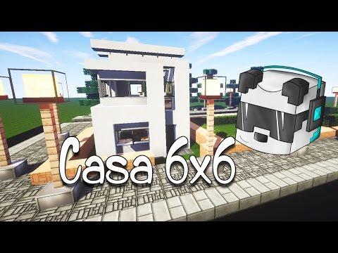 Como hacer una carretera en minecraft doovi for Casa moderna 6x6