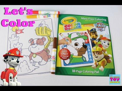 Paw Patrol Color Wonder Crayola Speed Color Review | Arts & Crafts | PSToyReviews