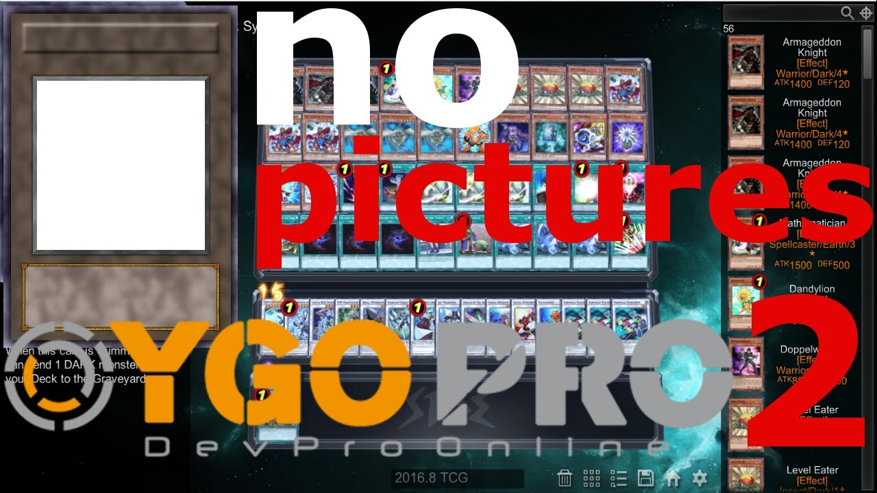 YGOPRO 2 No Pictures ( card images ) fix STEP by STEP