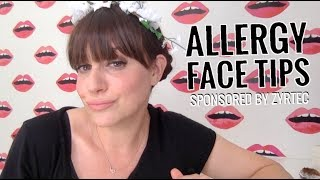 Allergy Face Tips