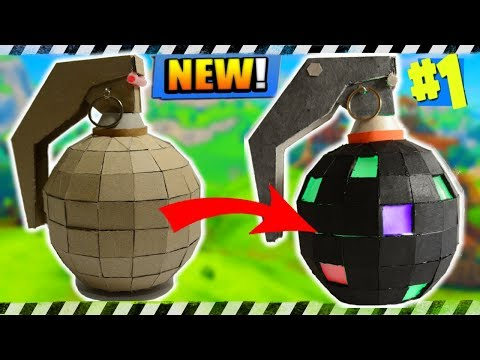 Diy Fortnite Boogie Bomb Made From Cardboard