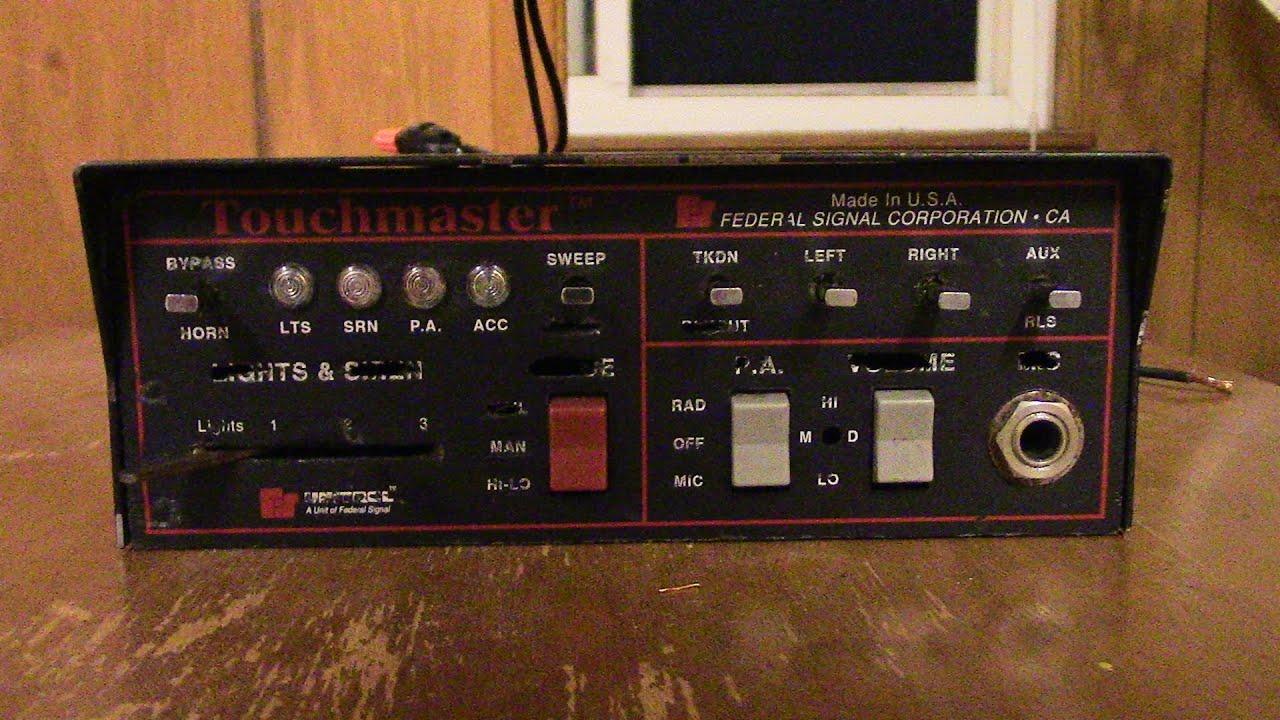 Federal Signal Unitrol Touchmaster Siren on