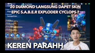 SKIN CYCLOPS S.A.B.E.R (riview) - Mobile Legends indonesia