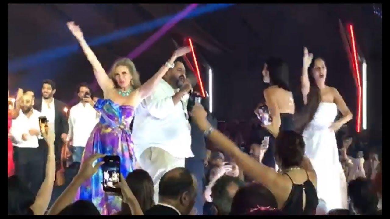 خاص- في after party مهرجان الغونة يسرا ترقص مع دينا الشربيني امام عمرو دياب ومايا دياب حاضرة
