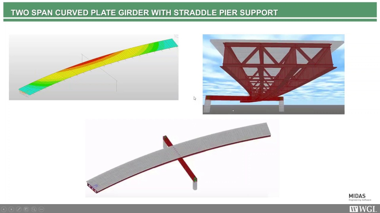 Multiple Curved Steel Girder Structures with Steel Straddle