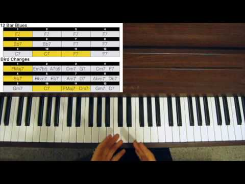 Jazz Piano Tutorial - Bird Changes Explained