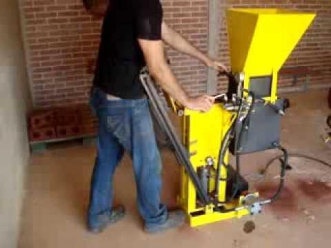 Hydraulic press interlocking bricks Eco power 125 basic MECAMIG