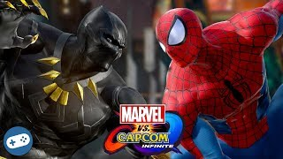 Black Panther VS Spider-Man Marvel vs Capcom Infinite Gameplay