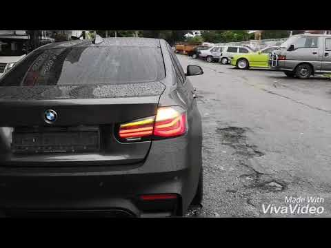 Bmw F30 3series M Performance Black Line Tail Lights Youtube