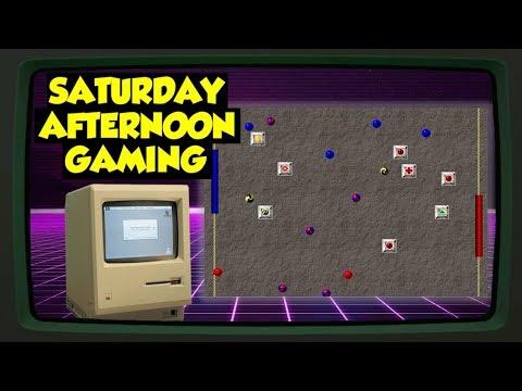 Mortal Pongbat (Macintosh) (feat. Jordan) - An Obscure Mac Classic! - Saturday Afternoon Gaming