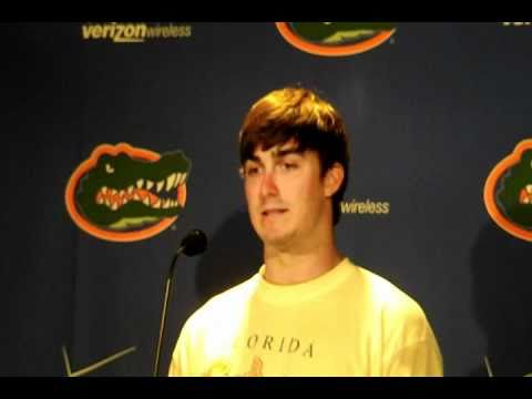 Florida Gators QB John Brantley responds to vote of confidence from Tim Tebow