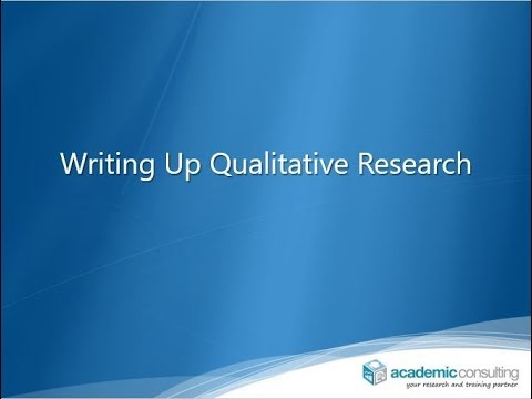 Writing Up Qualitative Research (Preview)
