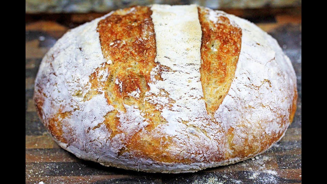 Crusty No Knead Artisan Bread