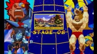 Marvel Super Heroes VS. Street Fighter - Sega Saturn - Survival Mode MECH-GOUKI & GOUKI