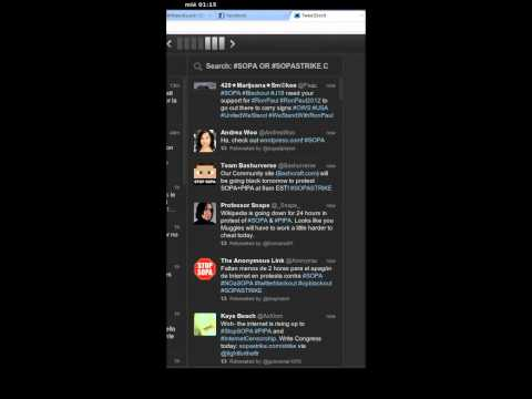 Twitter at 1 hour before english wikipedia blackout in protest of #SOPA and #PIPA
