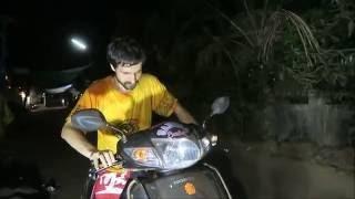 Гоа блог 112. Видео Обучение как научиться ездить на мопеде скутере с нуля в Индии Арамболь
