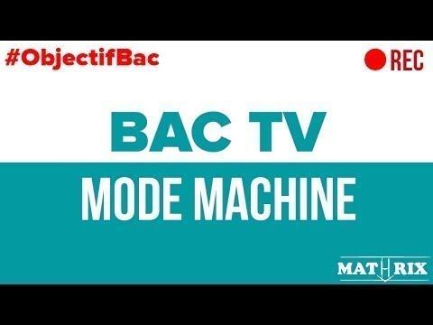 BAC TV - On Corrige des Annales de Maths S - #21