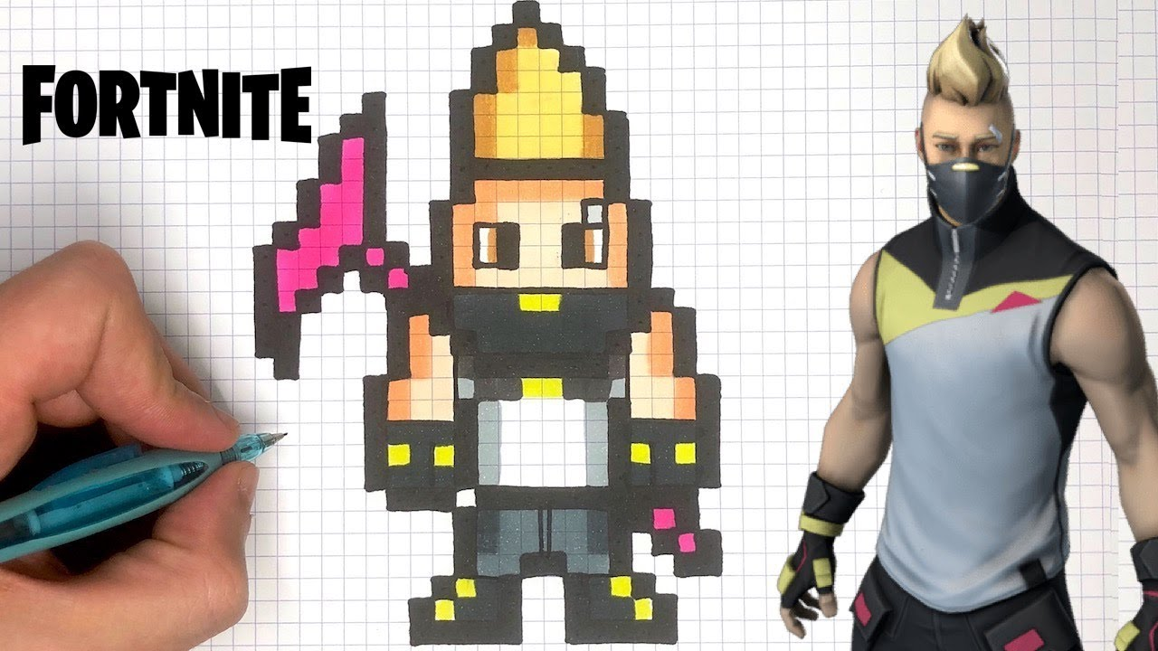 Dessin Facile Nomade Pixel Art Fortnite Youtube
