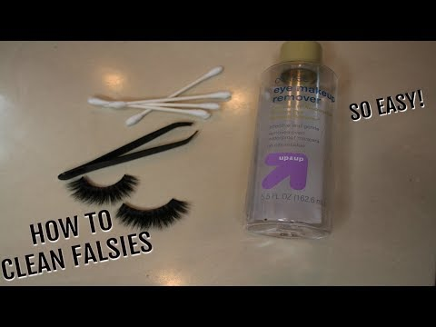HOW TO CLEAN FALSE LASHES - wear them over & over!! | glossandtalk