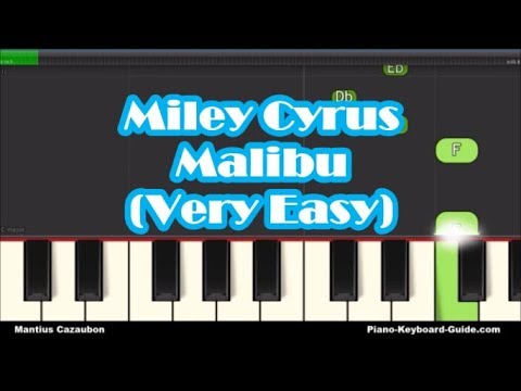 Miley Cyrus - Malibu - Right Hand Easy Piano Tutorial - Notes - How To Play