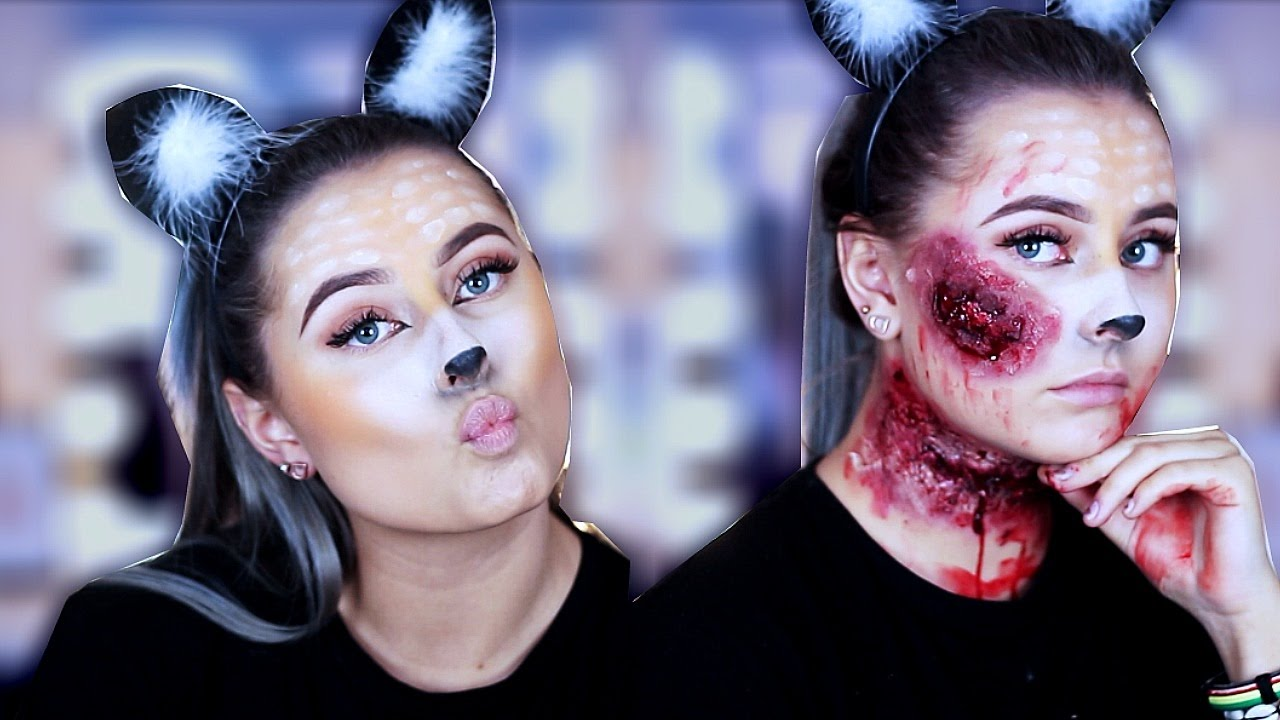 Skummel Halloween Sminke.Snapchat Deer Halloween Makeup Zombie Deer Partyking No