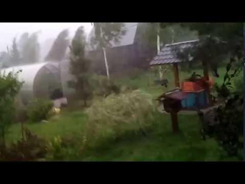Ураган с градом г. Куровское снт Лесная поляна 7 августа