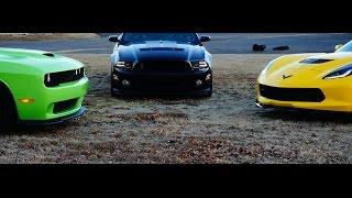 C7 Z06 vs Dodge Hellcat vs Ford GT500 Teaser
