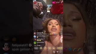 CARDI B & OFFSET GET FREAKY ON IG LIVE. SMOKES A CIGARETTE & Talks about leaked picture!! #blm