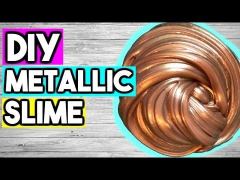 How to Make Metallic Slime! DIY Slime Without BORAX!