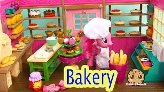 Lil Woodzeez Tickle Your Taste Buds Cupcake Bread Bakery Playset With My Little Pony Pinkie Pie