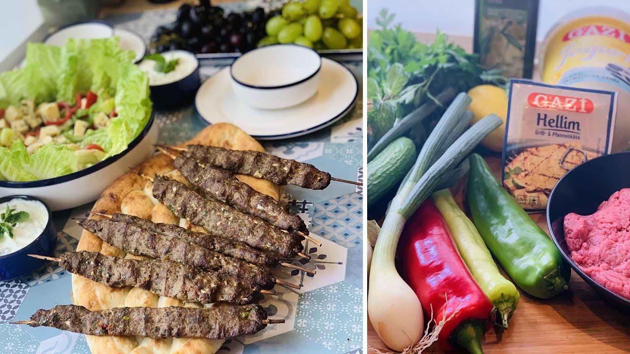 Repas turc facile, Kofte, Pain Pide, Salade turque -Çoban salatası