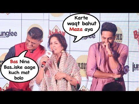 Nina Guptas EMBARESSING Moment In Front Of Ayyushman Khurana At Badhai Ho Eevent- FUNNY Reaction