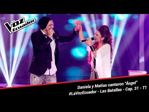 """Daniela y Matias cantaron """"Ángel"""" - La Voz Ecuador - Batallas - Cap. 31 - T1"""
