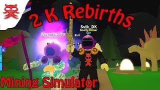 2000 REBIRTHS - Mining Sim - Dansk Roblox