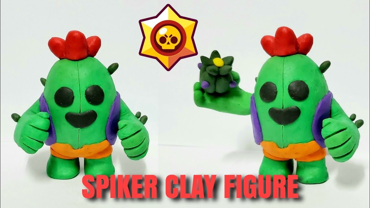 COMO HACER A SPIKE DE BRAWL STAR CON PLASTILINA/HOW TO MAKE SPIKE FROM BRAWL STARS WITH CLAY