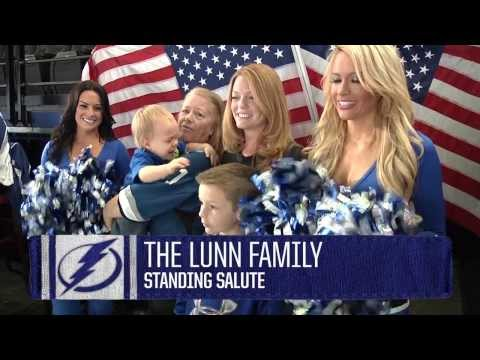 Soldier Surprises Family At Tampa Bay Lightning Game