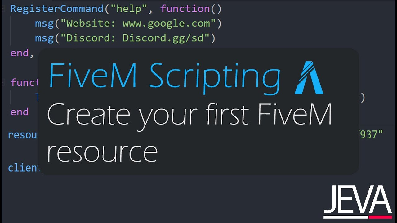 FiveM Scripting 1 - Create Your First FiveM Resource (Lua for beginners)