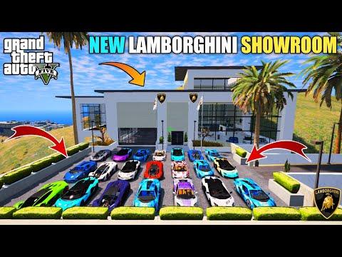GTA 5 : MY MILLION DOLLAR LAMBORGHINI SHOWROOM || BB GAMING